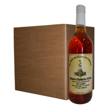 Honig Erdbeer Wein 12 Flaschen