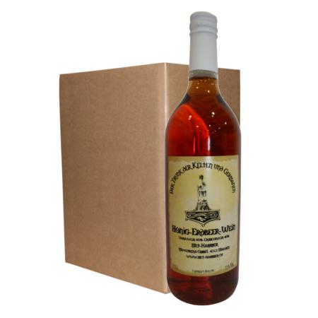 Honig-Erdbeer-Wein (6 Flaschen)