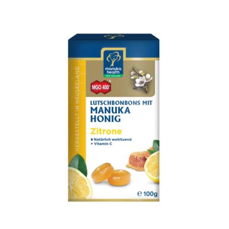 MGO 400+ Manuka-Honig Zitrone Hustenbonbons 100g